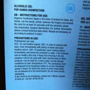 easycleaning alcohol based gel leaflet
