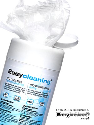 easycleaning disinfecting wipes 100 x easytattoo uk