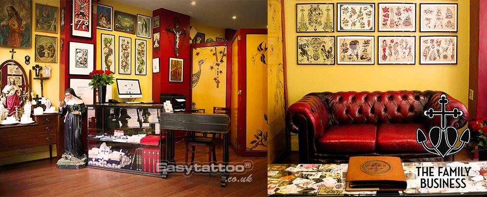 The family business tattoo tattoo studio in london at for Tattoo shops in london